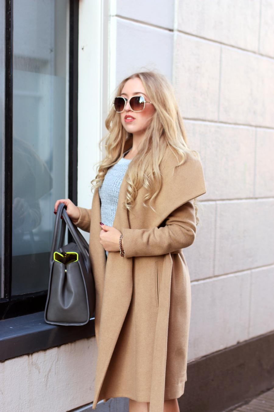 Chloe Tamaris Aviator Sunglasses With Leather Trim