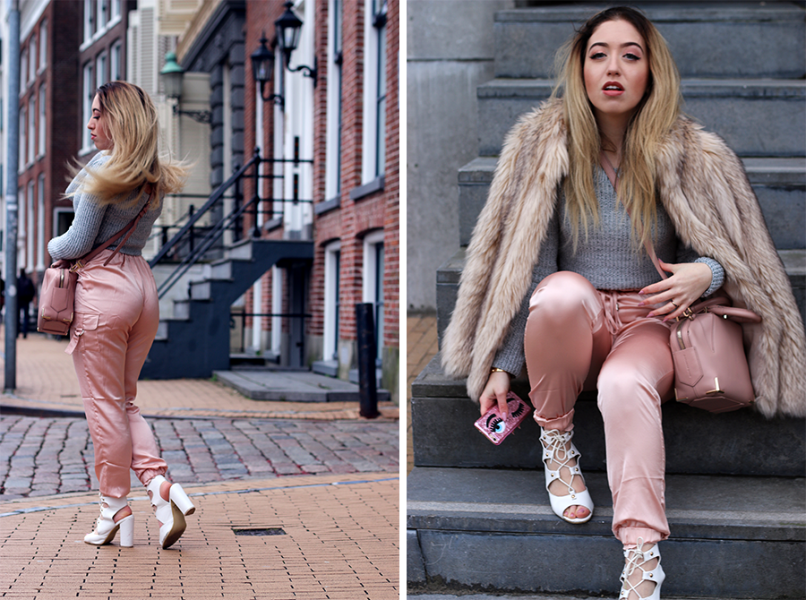 OUTFIT OF THE DAY | Pinky Nudes & Light Grey