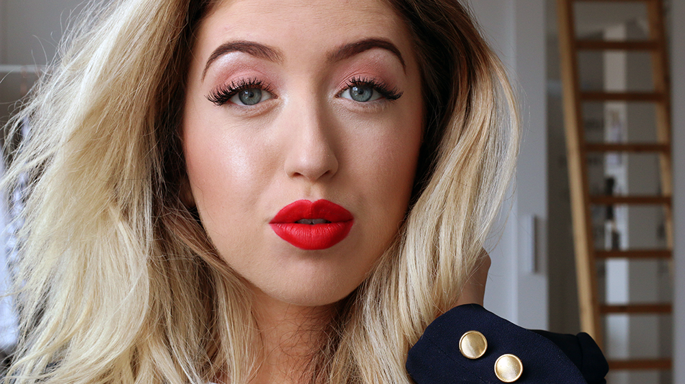 FACE OF THE DAY | Red Lips + New NYX Products Haul