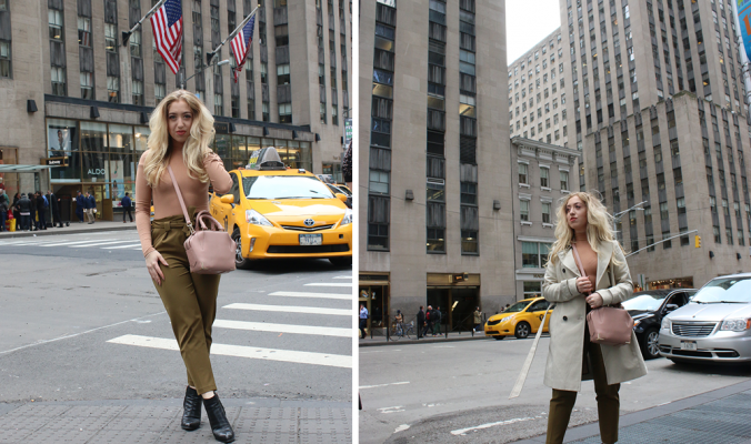 OUTFIT OF THE DAY | Khaki & Nude