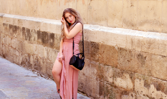 OUTFIT OF THE DAY | Primark Blush Maxi Dress