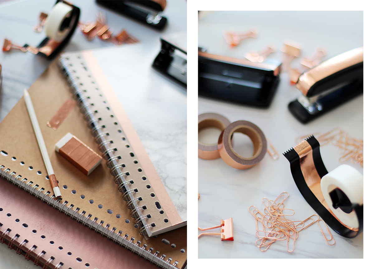 Diy Rose Gold Amp Marble School Supplies Giveaway Lily Like