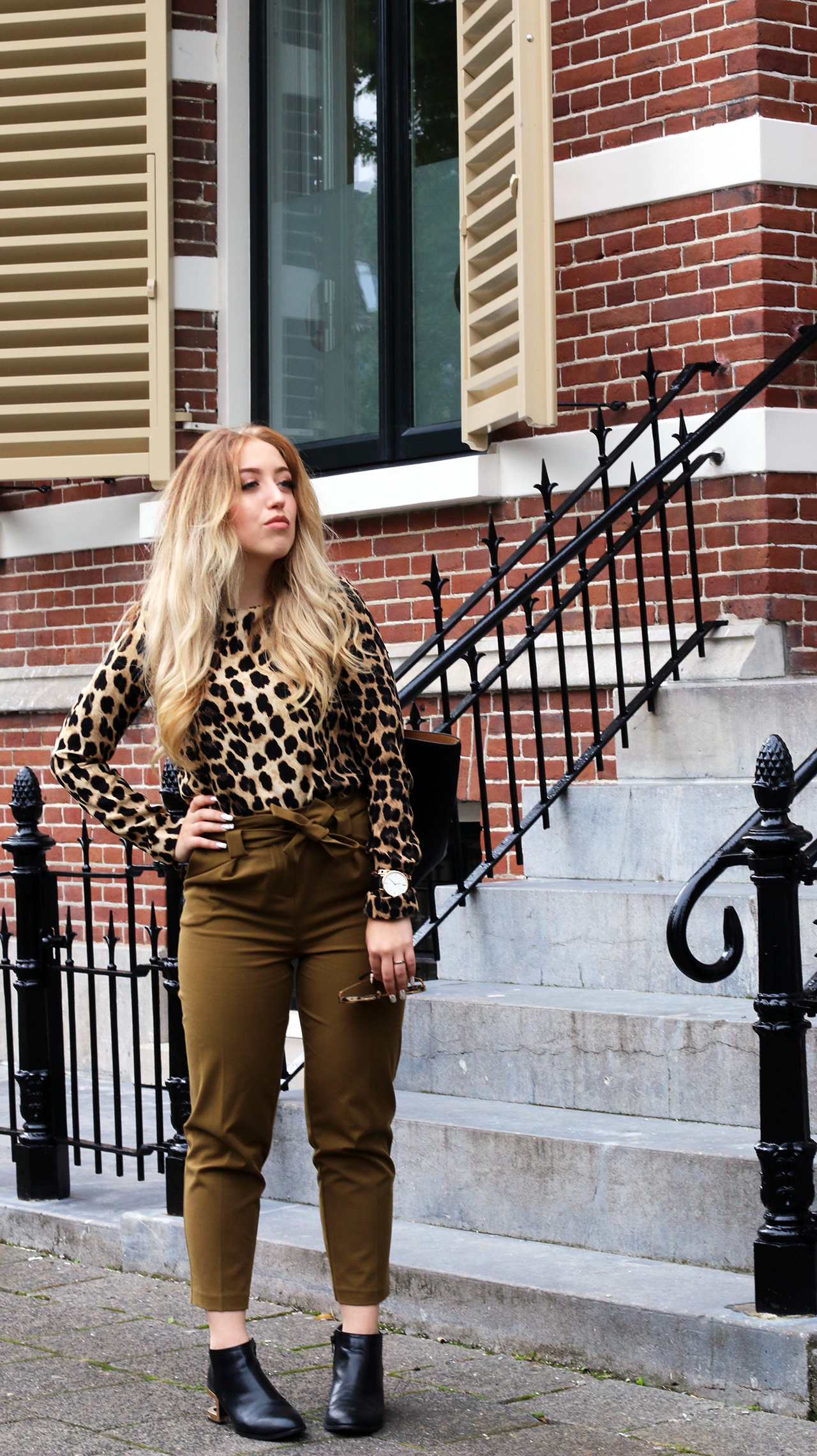 OUTFIT OF THE DAY | Khaki & Leopard
