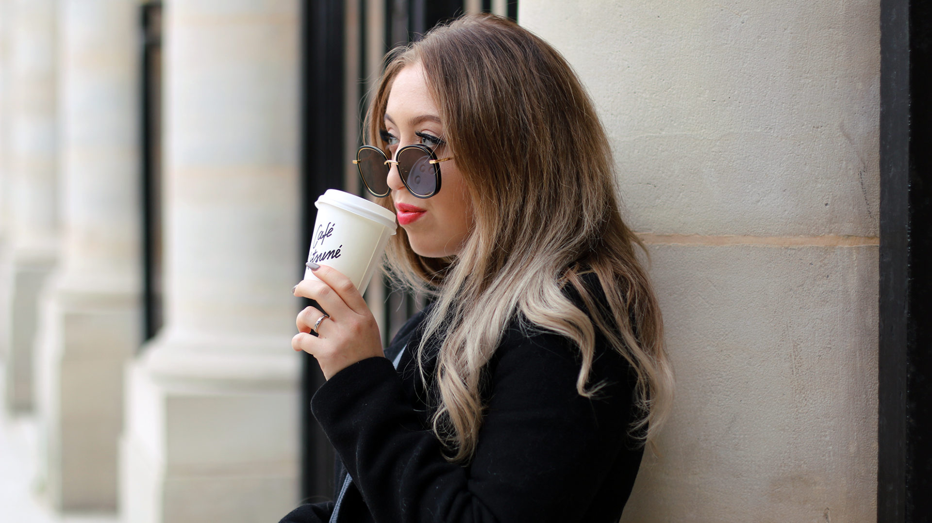 Café Latte & New Sunnies in Paris.