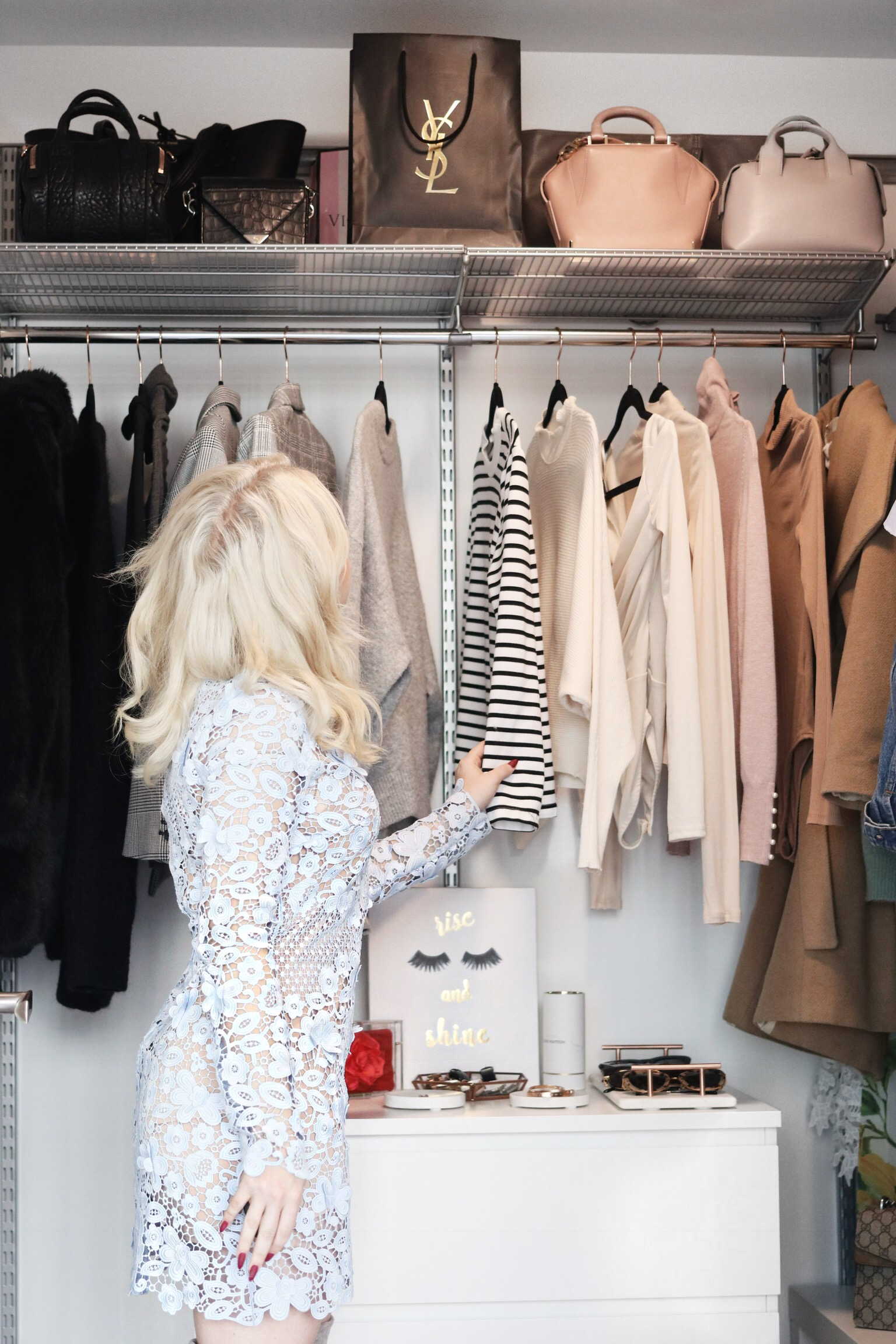 How To Create A Pinterest Inspired Walk-In Closet