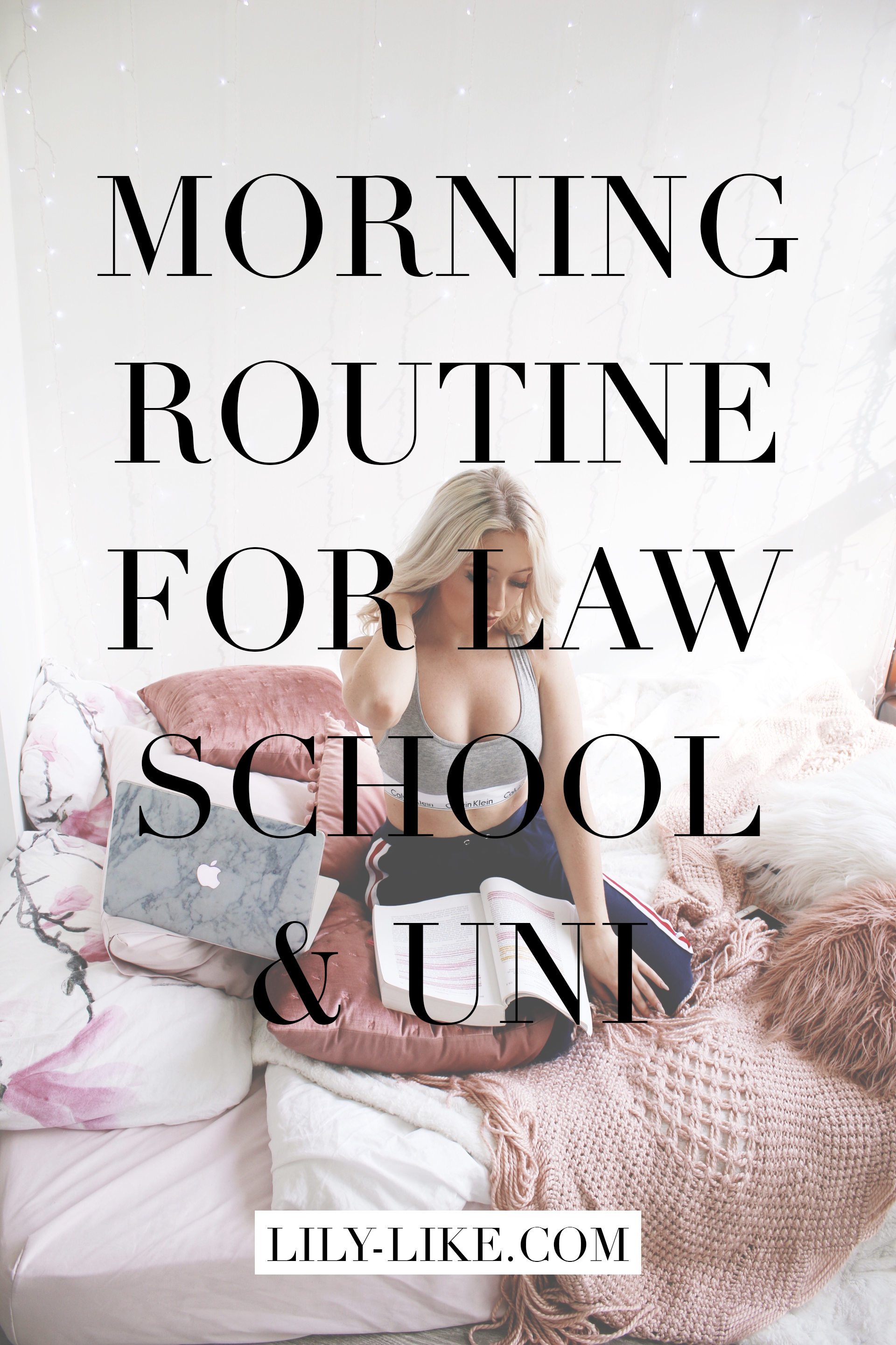 My Morning Routine For US Law School/University