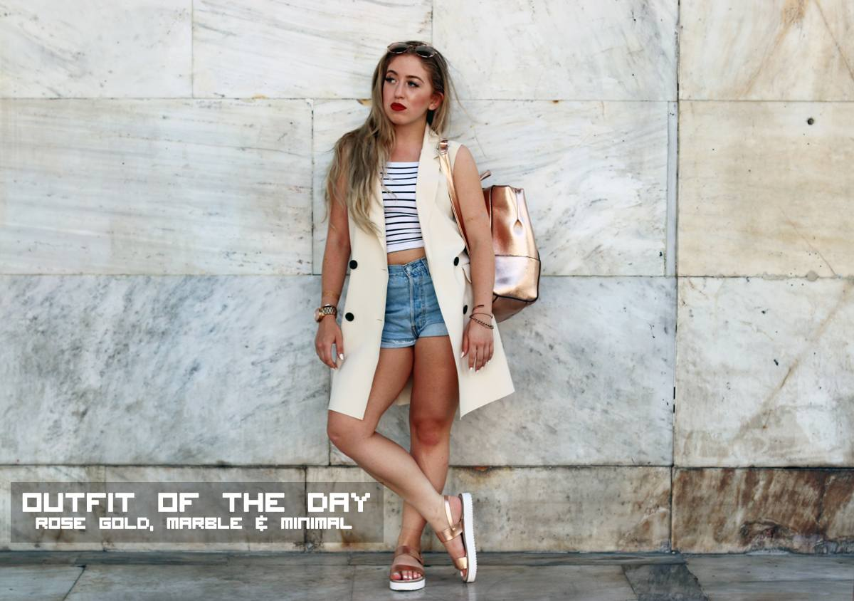 Outfit Of The Day Rose Gold Marble Minimal