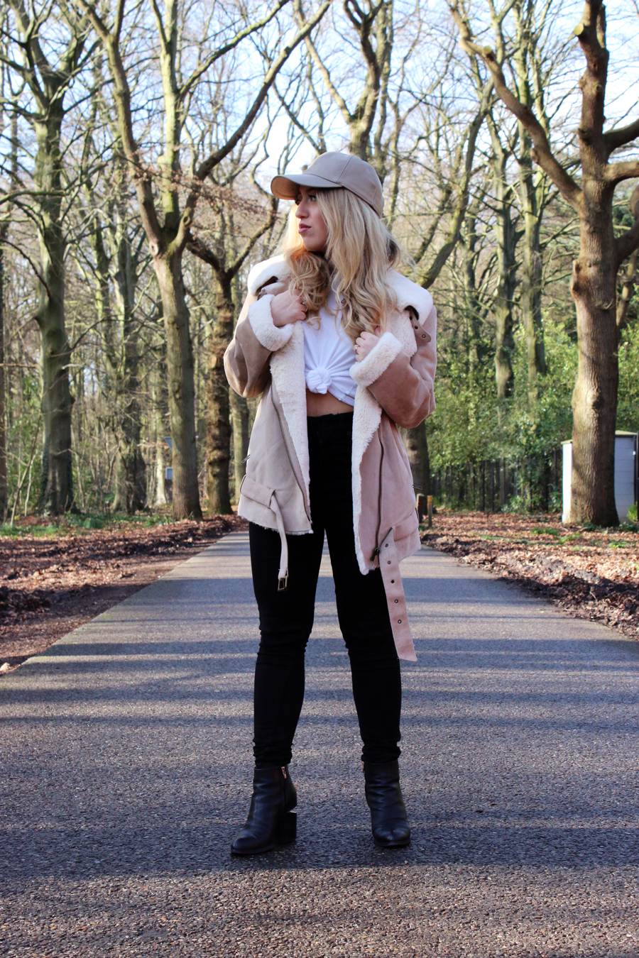 OUTFIT OF THE DAY   New Shearling Jacket