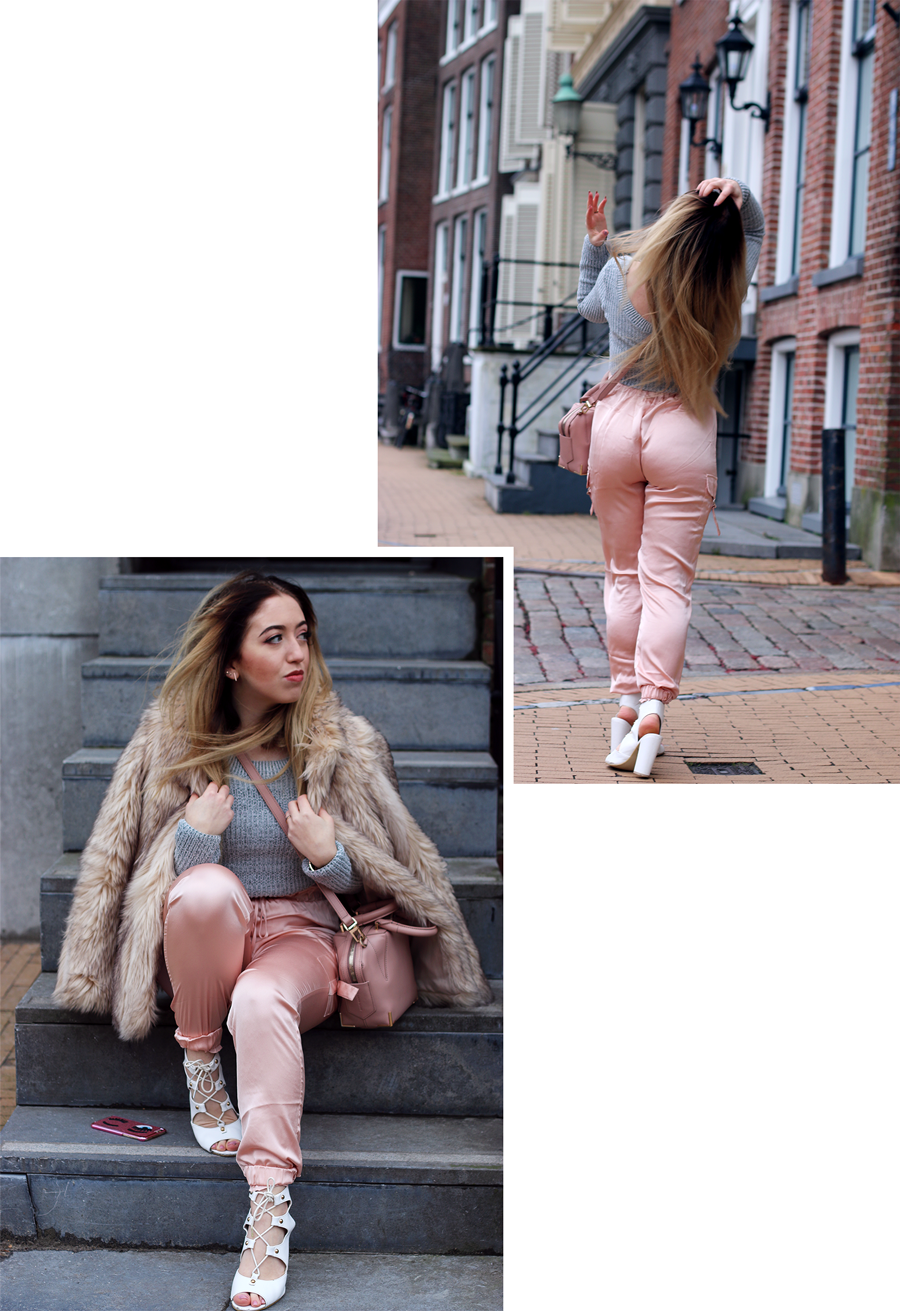 OUTFIT OF THE DAY   Pinky Nudes & Light Grey