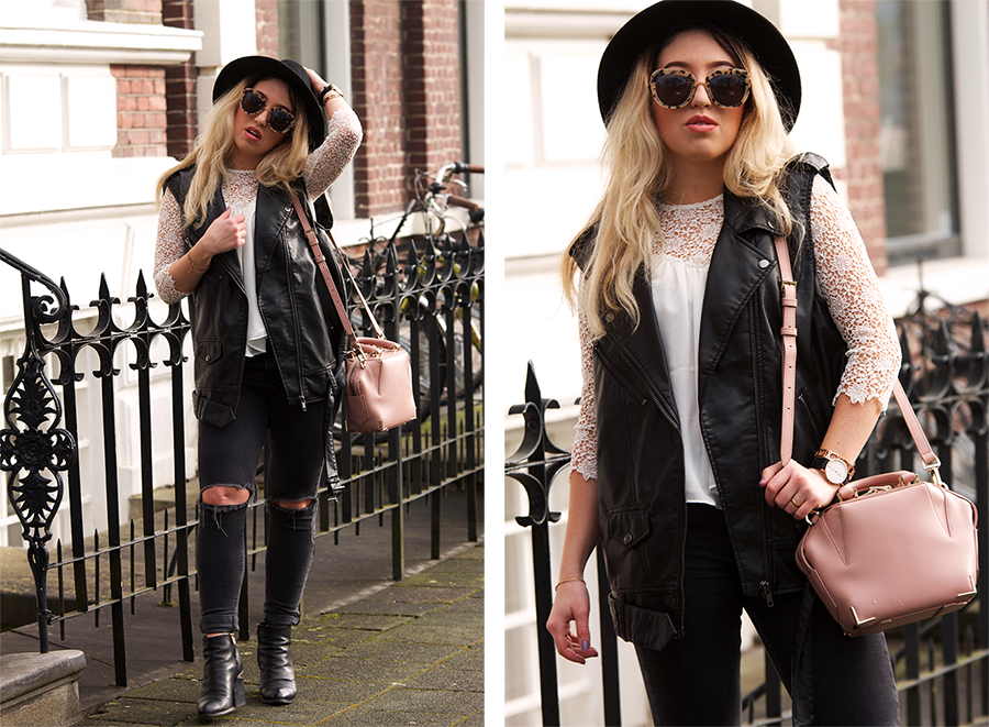 OUTFIT OF THE DAY   Leather Biker Vest