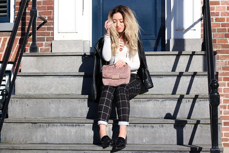 OUTFIT OF THE DAY | Checkered Cigarette Pants