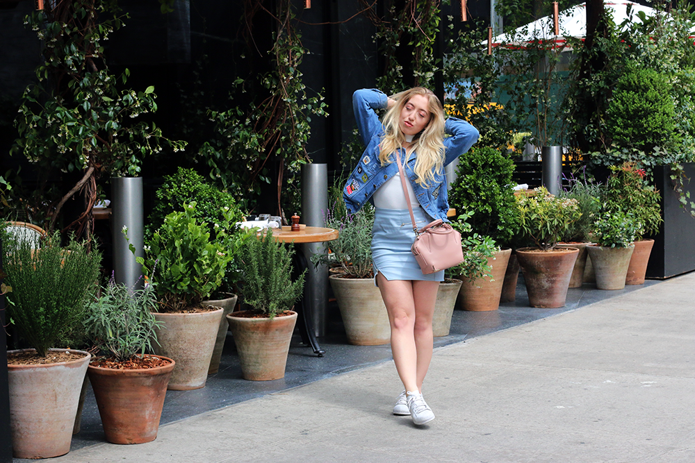 OUTFIT OF THE DAY   Patched Denim Jacket + NYC Lookbook