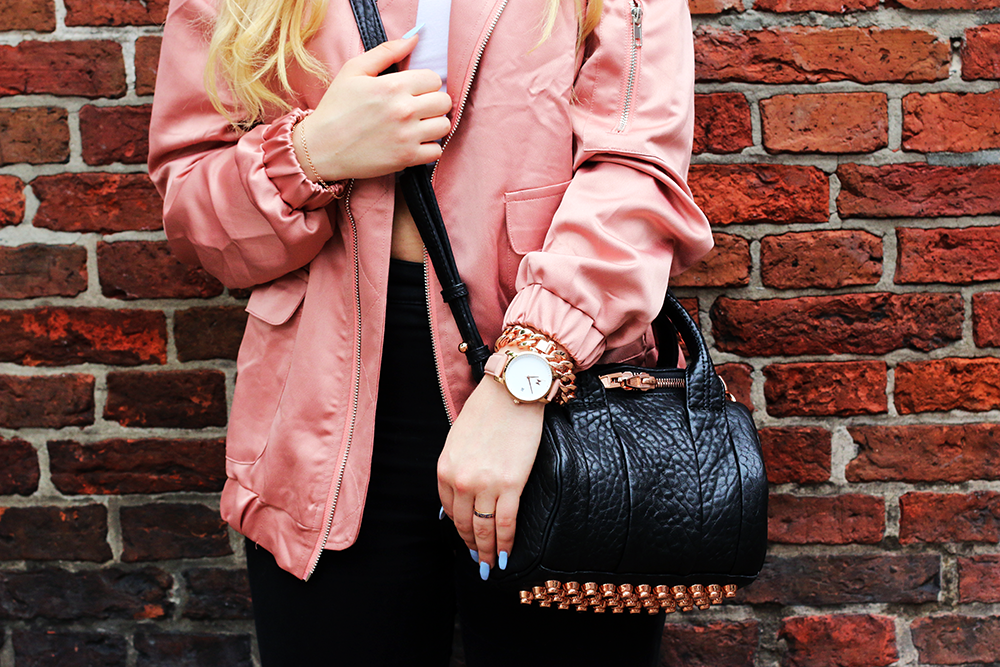 OUTFIT OF THE DAY | Satin Bomber Jacket