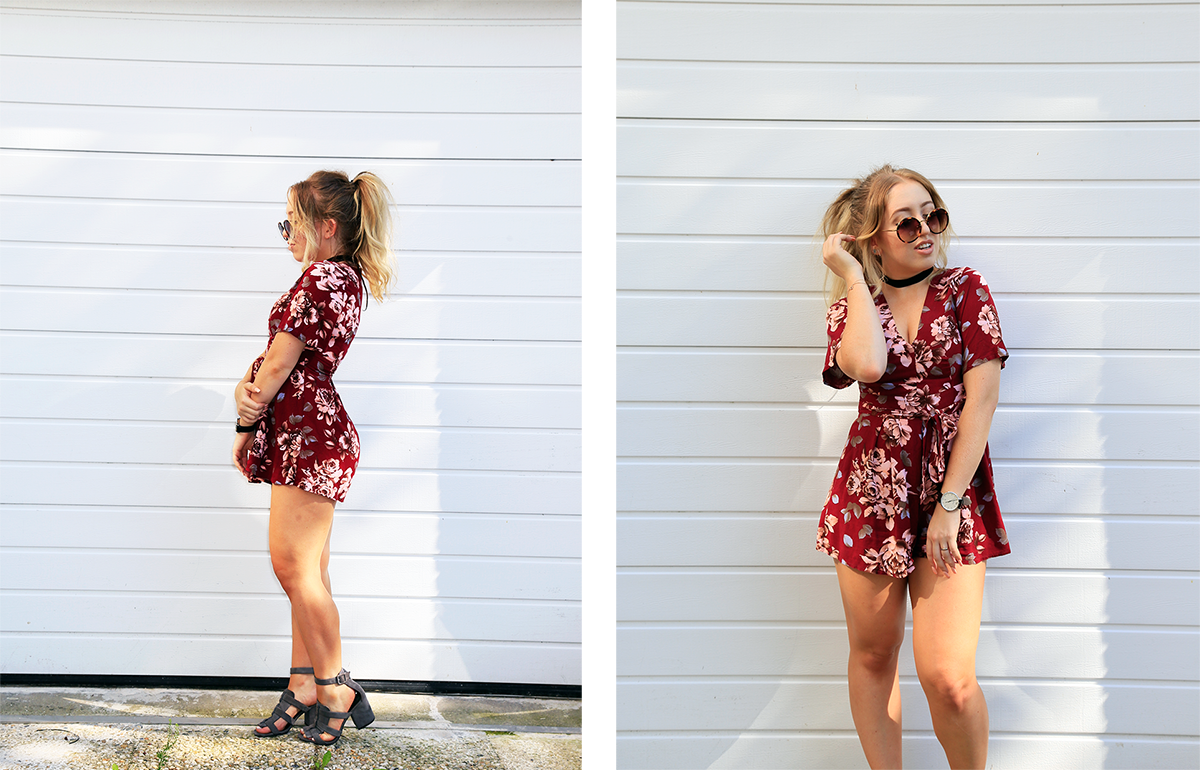 OUTFIT OF THE DAY | Red Playsuit