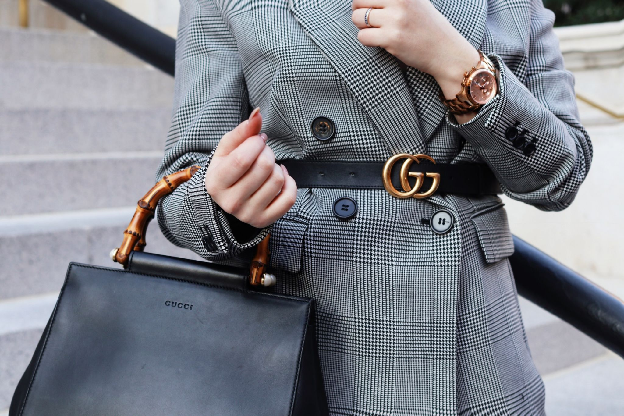 Belt Over Blazer Outfit