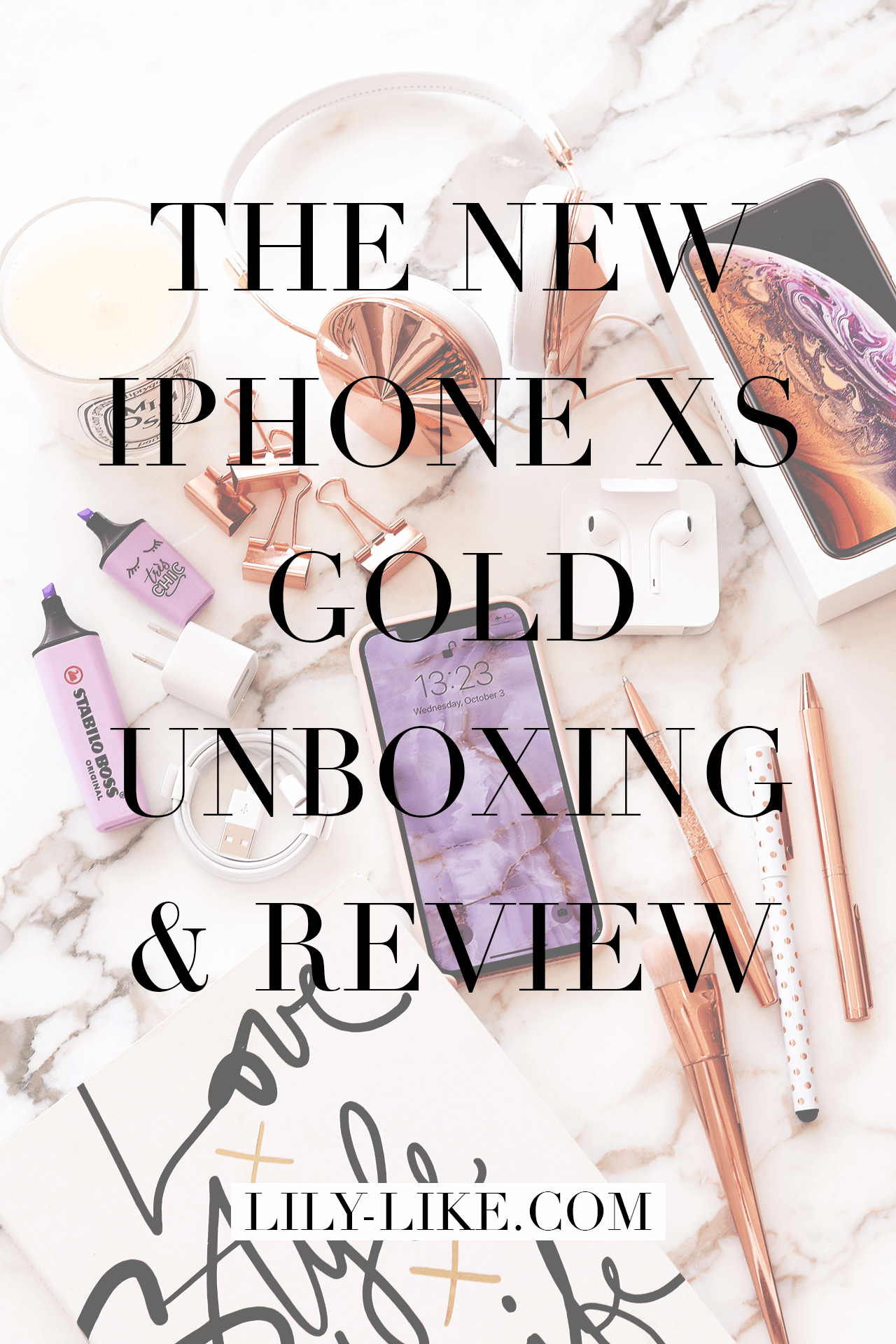 My New iPhone XS Gold